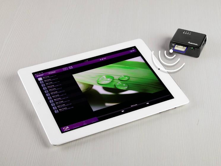 hama wifi datenleser fotos ohne umweg auf apple ger te computer bild. Black Bedroom Furniture Sets. Home Design Ideas