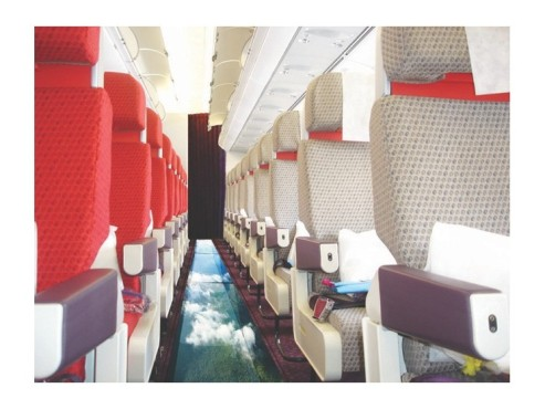 Das Glasboden-Flugzeug © Virgin Atlantic