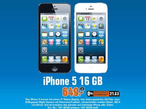 Apple iPhone 5 16GB ©COMPUTER BILD