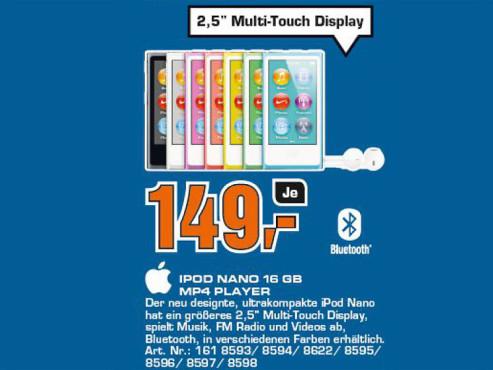Apple iPod nano 7G 16GB ©COMPUTER BILD