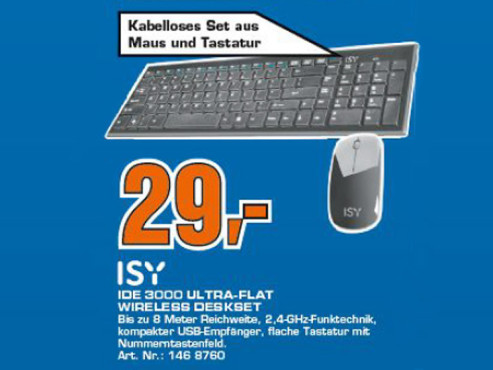 ISY IDE-3000 Wireless Deskset ©COMPUTER BILD
