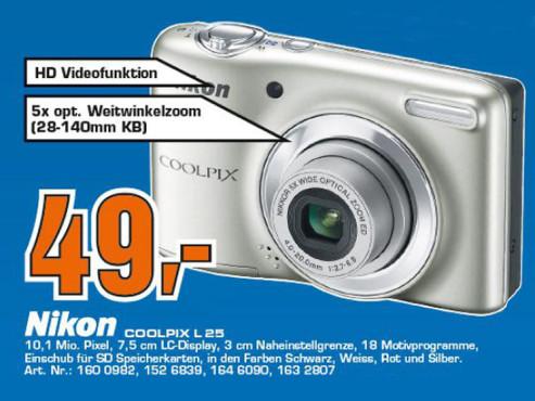 Nikon Coolpix L25 ©COMPUTER BILD