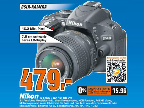 Nikon D5100 Kit 18-55 mm [Nikon VR] ©COMPUTER BILD