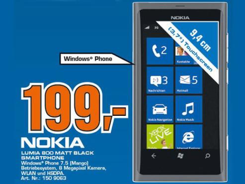 Nokia Lumia 800 ©COMPUTER BILD