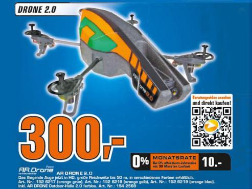 Parrot AR.Drone 2.0 RTF Quadcopter ©COMPUTER BILD
