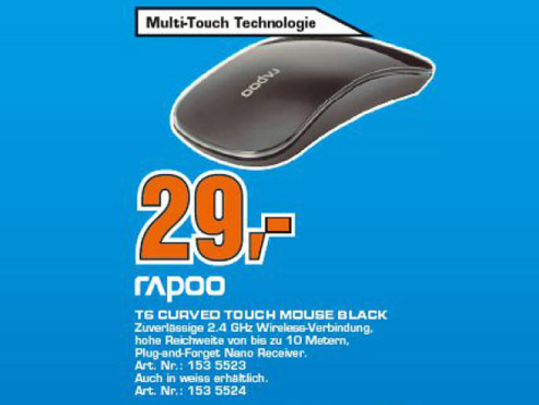 Rapoo Wireless Touch Optical Mouse T6 © COMPUTER BILD