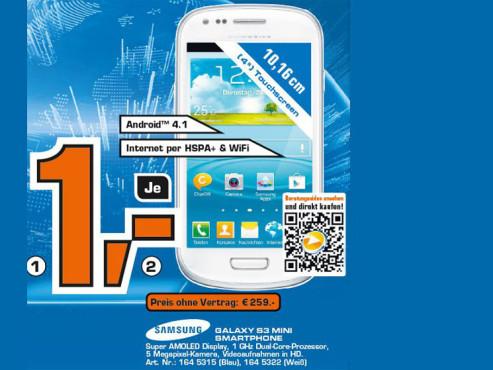 Samsung Galaxy S3 Mini ©COMPUTER BILD