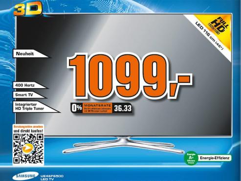 Samsung UE46F6500 ©COMPUTER BILD