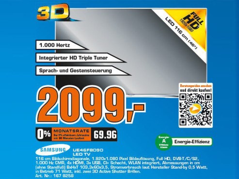 Samsung UE46F8090 ©COMPUTER BILD