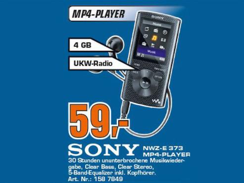 Sony NWZ-E373 ©COMPUTER BILD