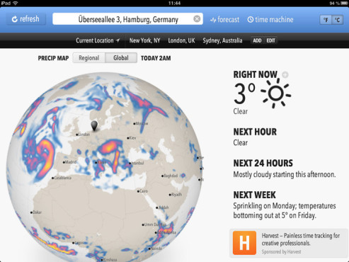 Screenshot Forecast.io © COMPUTER BILD