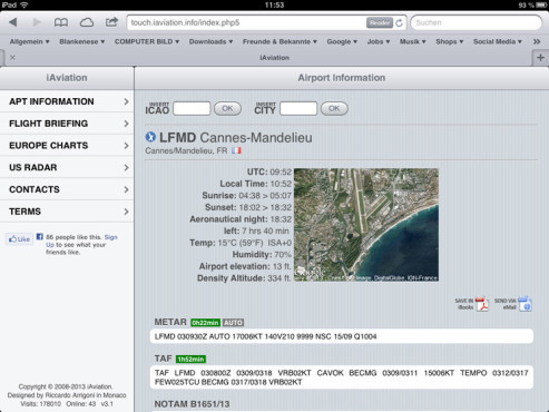 Screenshot iAviation © COMPUTER BILD