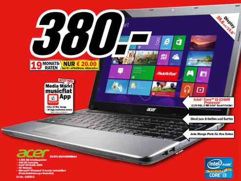 Acer Aspire E1-571-32344G50Mnks ©Media Markt