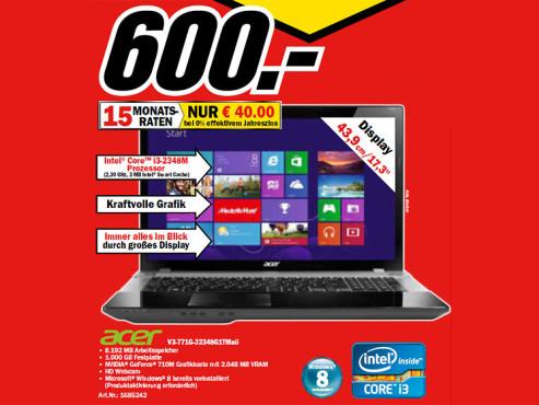 Acer Aspire V3-771G-32348G1tmaii ©Media Markt