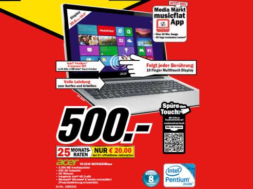Acer Aspire V5-531P-987B4G50mass ©Media Markt