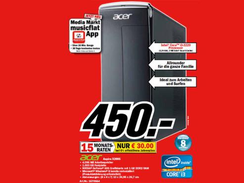 Acer Aspire X3995 ©Media Markt