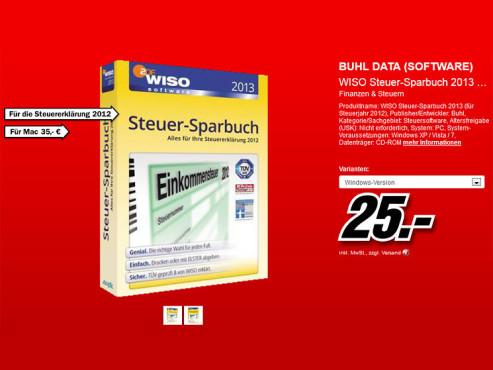 Buhl WISO Steuer-Sparbuch 2013 (Win) (DE) ©Media Markt