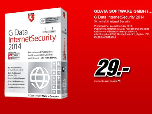 G Data Internet Security 2014 (1 User) (1 Jahr) (Win) (DE) ©Media Markt