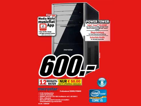 Microstar Professional i52000/Pc8645 ©Media Markt