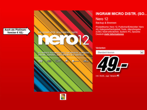 Nero 12 (Win) (DE) ©Media Markt
