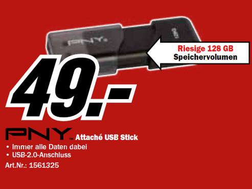 PNY Attache WAVE USB 2.0 Stick 128GB ©Media Markt