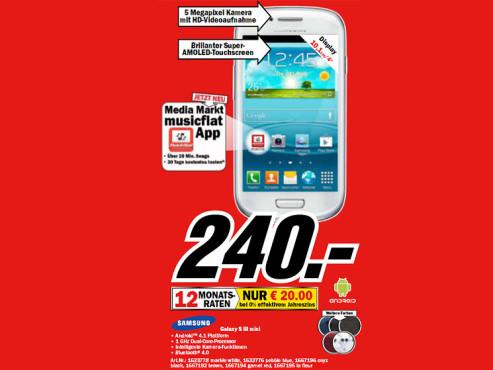 Samsung Galaxy S3 Mini ©Media Markt