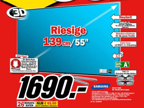 Samsung UE55F6500 ©Media Markt