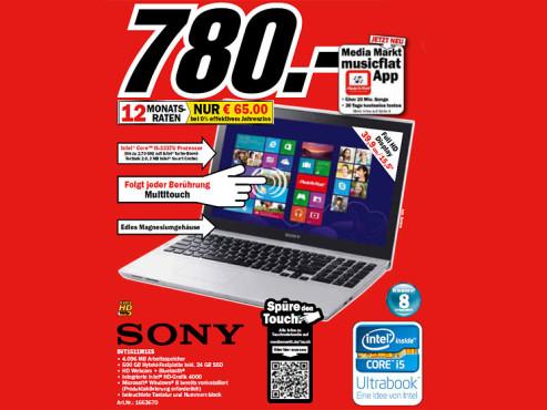 Sony Vaio SV-T1511M1ES ©Media Markt