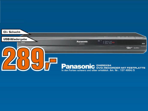 Panasonic DMR-EX84C 160GB © Saturn