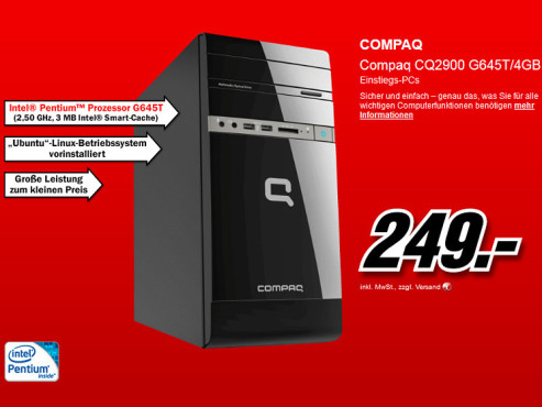 Hewlett-Packard HP Compaq CQ2903EG Desktop-PC (C6W68EA) © Media Markt