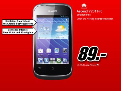Huawei Ascend Y201 Pro ©Media Markt