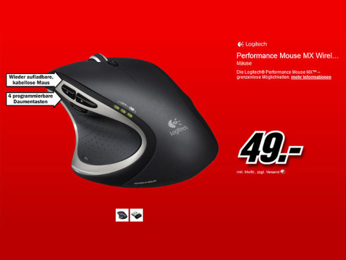 Logitech Performance Mouse MX © Media Markt