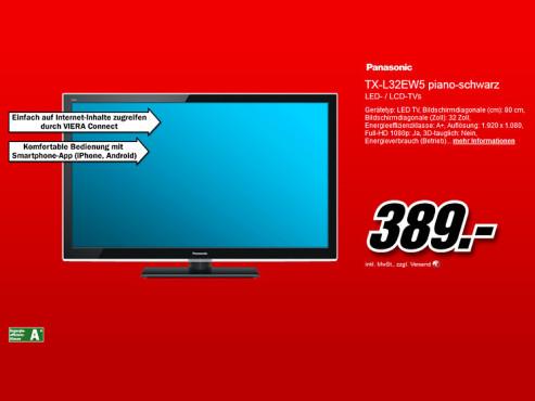 Panasonic TX-L32EW5 ©Media Markt