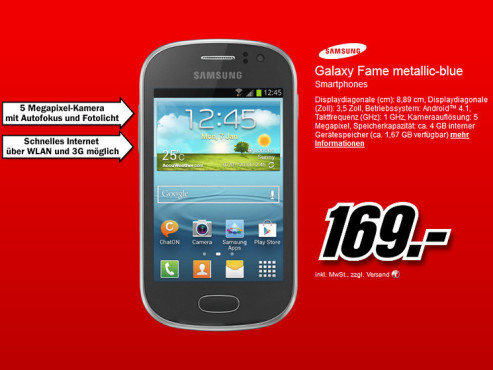 Samsung Galaxy Fame © Media Markt