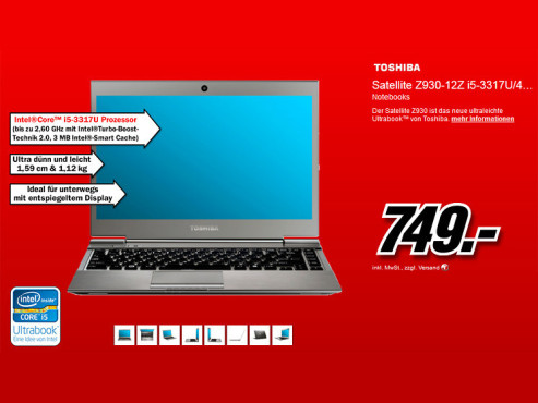 Toshiba Satellite Z930-12Z (PT23LE-00N00F) © Media Markt
