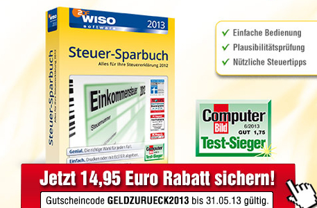 WISO Steuer-Sparbuch 2013 © Buhl Data Service GmbH