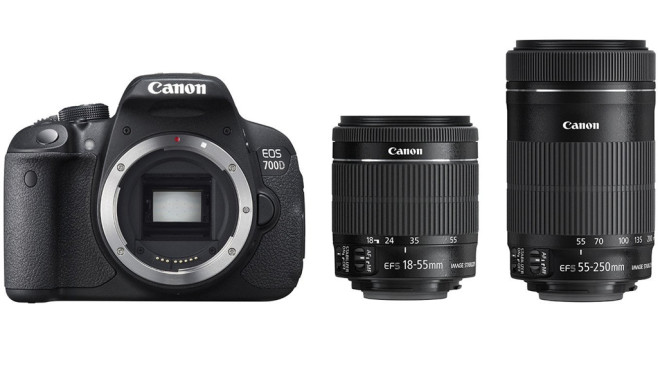 Digitale Spiegelreflexkamera: Canon EOS 700D inkl. EF 18-55mm IS STM und EF 55-250mm IS STM © Amazon