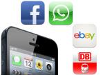 Statista: Die beliebtesten iPhone-Apps ©Apple, Facebook, WhatsApp, Ebay, Deutsche Bahn