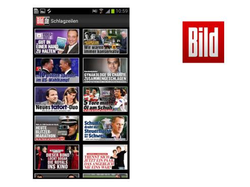 BILD-App ©Axel Springer AG