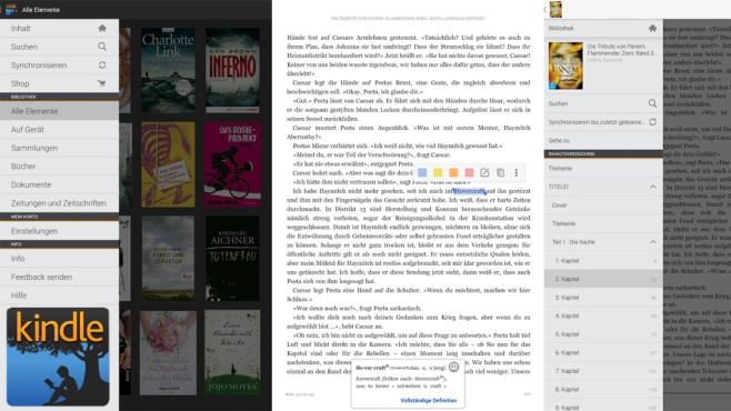 Amazon Kindle for iOS, Android und WP8 ©Amazon Mobile LLC