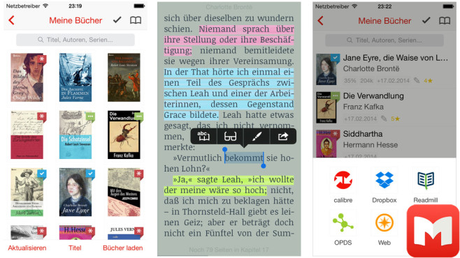 Marvin – eBook Reader for epub © Appstafarian