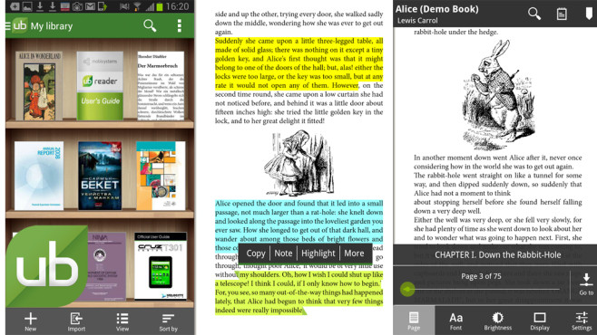 Universal Book Reader © Mobile Systems