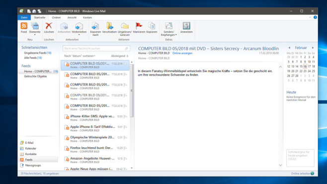 Windows Live Mail © COMPUTER BILD