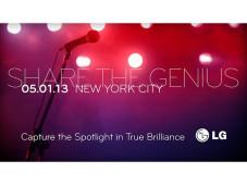 Einladung vom LG zu einem Event am 1. Mai in New York. ©LG