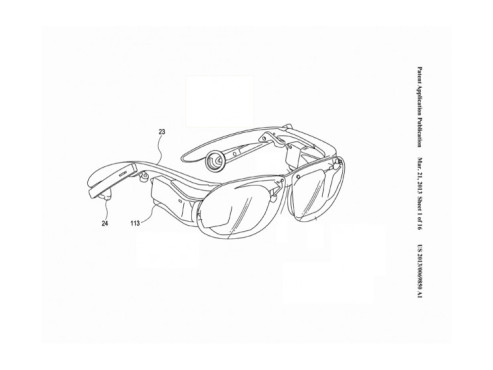 Datenbrille von Sony © United States Patent and Trademark Office