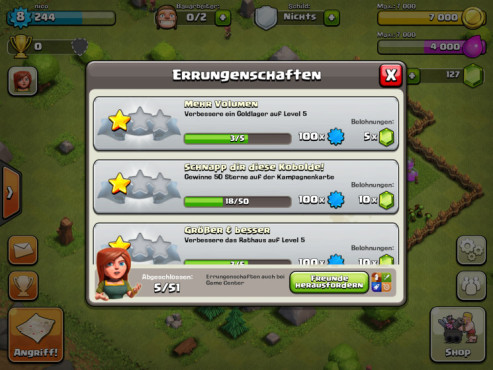 Clash of Clans: Errungenschaften © Supercell