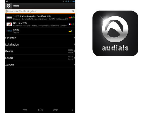 Audials Radio & Musik Sync © Audials Software