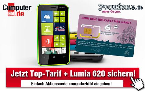 COMPUTER BILD-Vorteil-Center ©COMPUTER BILD, Yourfone.de, Nokia