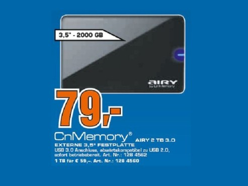 CNMEMORY Airy 2TB 3,5 Zoll USB 3.0 © Saturn