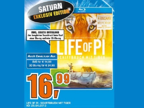 Life of Pi Blu-Ray © Saturn